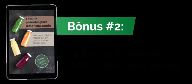 Bônus #2: livro digital 4 Sucos Potentes Para Tratar Sua Saúde